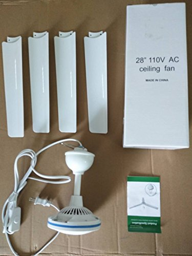 28'' Inch 110V AC electric Ceiling Fan Energy Saving Indoor Ceiling Fan Outdoor gazebo ceiling fan by sunlar (Image #3)