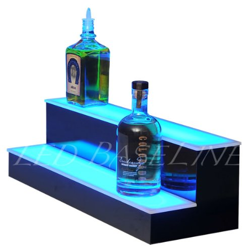 2 Step Bar Shelf Bottle Glorifier 24'