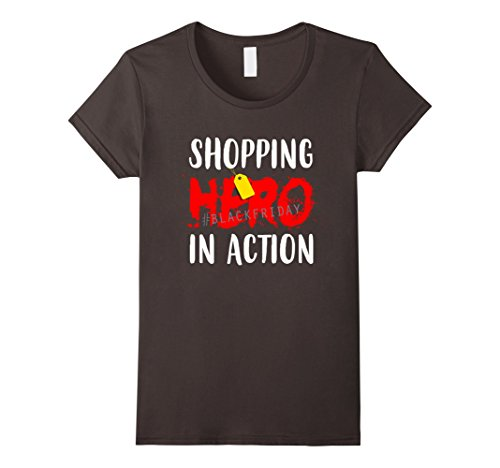 Action Hero Costume Female (Womens Shopping Shirt - Hero In Action Large Asphalt)