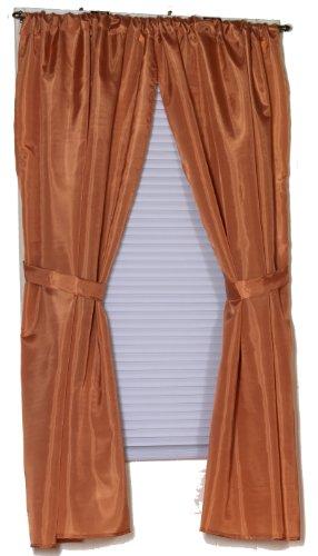 (Carnation Home Fashions Fabric Bathroom Window Curtain, 36-Inch by 54-Inch, Tangerine)