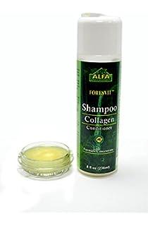 Alfa Vitamins Foresvit Shampoo Collagen Conditioner 8 Oz with Vitamin E and Collagen. Softens.