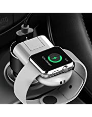 Bysionics Wireless Charger,Wireless Charging Stand and Wireless Magnetic Charging Dock Holder USB Charging Compatible for Apple Watch Series 4/3/2/1 White