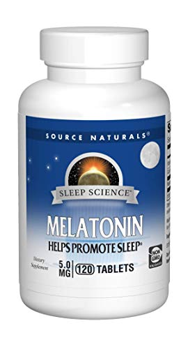 - Source Naturals Melatonin 5mg Sleep Support - 120 Tablets
