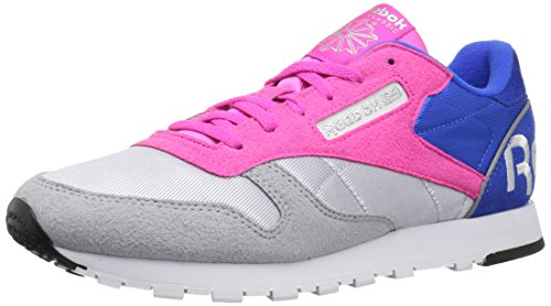 Pnk Black Women's Silv Classic Dynamic Shoes White Blu Grey Reebok Cloud Vital Classic Leather Uwa887