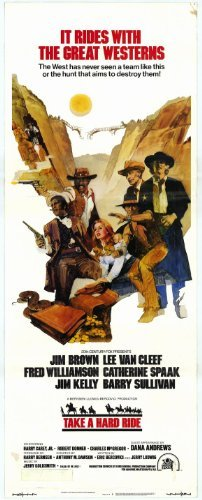 Hard Ride Poster (Take a Hard Ride POSTER Movie (14 x 36 Inches - 36cm x 92cm) (1975) (Insert Style)