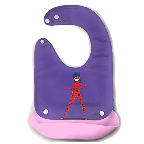 (LightCa Ladybug Rainbow Bib Mouth Towel for Toddlers Pink 48)