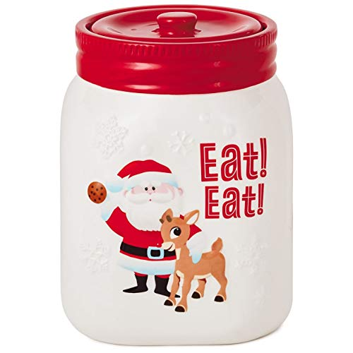 Rudolph the Red-Nosed Reindeer Skinny Santa Cookie Jar Kitchen Accessories Movies & TV (Rudolph Cookie)