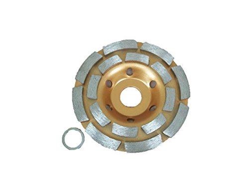 TEMO 4 inch (100mm) Professional Diamond Two Row Segment Grinding Wheel Disc for Marble Tile Concrete and Rock gc ()
