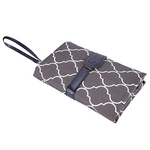 Almohadilla para Pañales Portátil para Bebés Pañal Plegable Multifuncional de Bebé Cambiador Portátil de Pañales para Viaje(Gris)