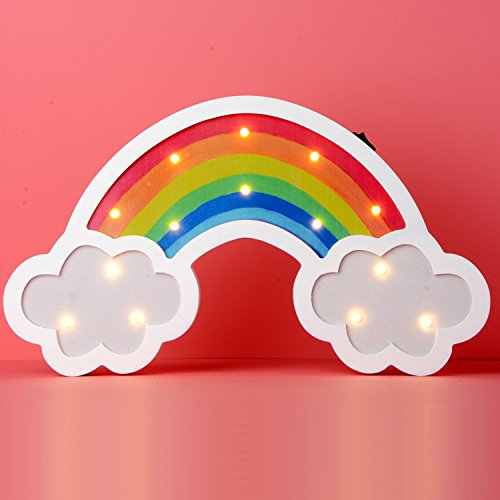 Rainbow Marquee Sign Led Night Light Takefuns Battery Operated Wall Light Decorative Bedsides Lamp for Girls Boys Christmas Home Decor(Rainbow) by Takefuns (Image #9)
