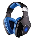 Cheap Sades Spellond Braided Fiber Wired Gaming Headset with 7.1 Vibration Stereo Sound and Noise Cancelling Mic