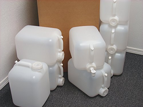 5 Gallon Carboy, 8 Pack (40 Gallons), Emergency Water Storage Kit - New! - Clean! - Boxed! - Free Spigot! by Hedpak