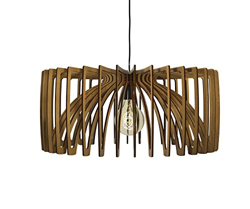 Wood Globe Pendant Light