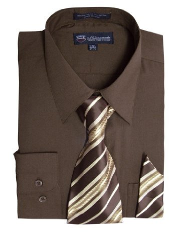 brown dress shirt and tie - 2