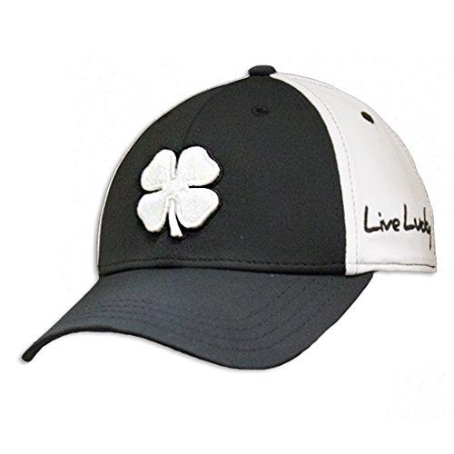 Black Clover Men's Premium Fitted #2 Cap -Black With Black Clover