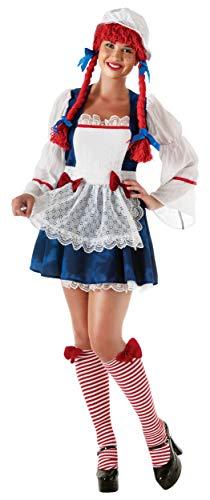 Secret Wishes Full Figure Rag Doll Costume, Multicolor -