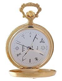 GB21113 - Gold Plated - Full Hunter - Quartz Movement - Masonic Dial - White Dial