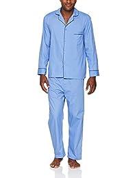 Men's Woven Plain-Weave Pajama Set