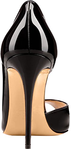 sur Cawait Aiguille Glisser Noir Femme Escarpins 10CM Chaussures Calaier XqgxZ1w