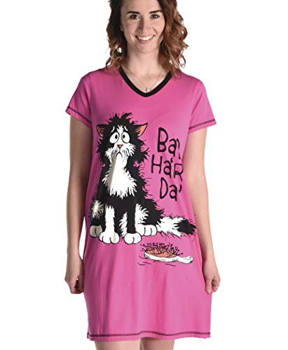 Bad Hair Day Women's Animal Pajama Nightshirt by LazyOne   Cute Animal Nightgowns for Ladies (S/M)