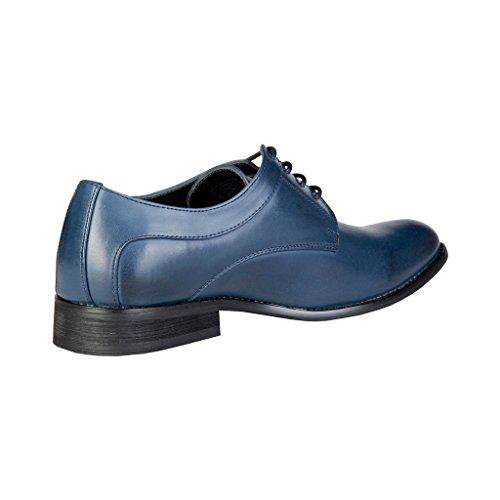Pierre Cardin Herren ZD3703 Leder Derby Schuhe in Brogue Blau