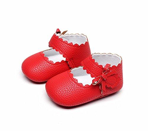 Baskets Sneakers Mode Cher Bébé Day8 Bapteme Chic Pas Mariage Rouge Automne Chaussure Premier Bowknot Fashion Printemps Fille Princesse Pffq7Ow