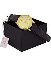 Relógio Feminino Orizom Couro Preto 100% Original + Caixa