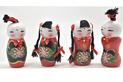Chinese Doll Creative fuwa Doll Boy and Girl 2 set for good (Chinese Collectible Doll)