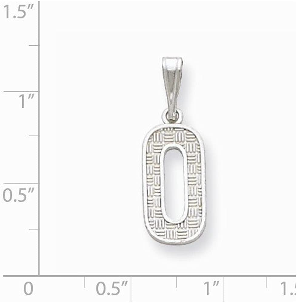 Jewel Tie 925 Sterling Silver Initial O Pendant Charm