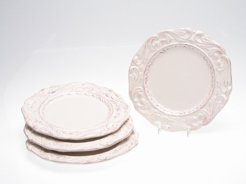 (Certified International Firenze Ivory 9-1/2-Inch Salad/Dessert Plate, Set of 4 )