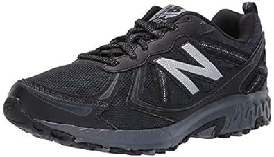 New Balance Men's Cushioning 410v5 Running Shoe Trail Runner, Black/Thunder, 7 4E US
