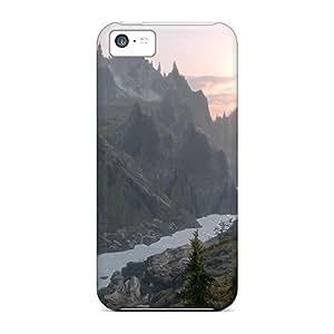 New Cute Funny Skyrim Sunrise Case Cover/ Iphone 5c Case Cover hjbrhga1544