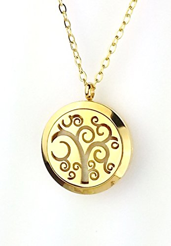 Gold Stainless Steel Whimsical Tree of Life Diffuser
