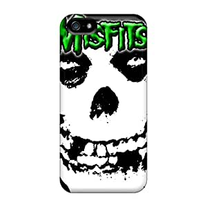 Shockproof Cell-phone Hard Covers For Apple Iphone 5/5s With Allow Personal Design Trendy Green Misfits Pattern RobAmarook