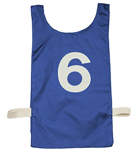 Champion Sport Heavyweight Numbered Pinnie, Royal Blue, Adult Size (Champion Football Uniforms)