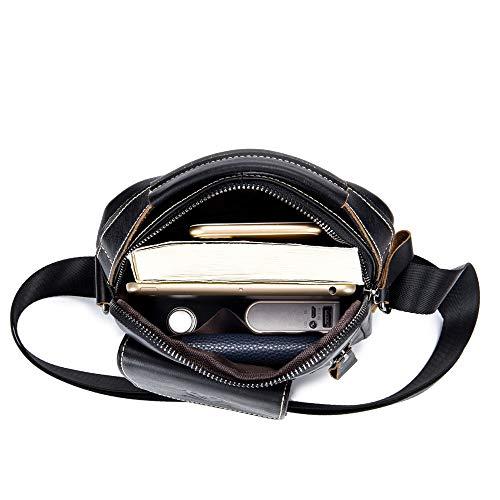 amp; Sac Handbags Vertical Shoulder Suédé À Black Pour Cuir En Bags Yqxr Bandoulière Homme FRZwHq5RA