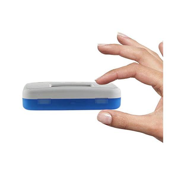 KOBWA - Caja de almacenamiento para pastillas de medicina, digital, ligera, con 5 alarmas de temporizador, pastillero de… 10