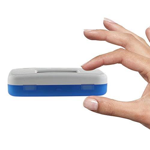 KOBWA - Caja de almacenamiento para pastillas de medicina, digital, ligera, con 5 alarmas de temporizador, pastillero de viaje 9
