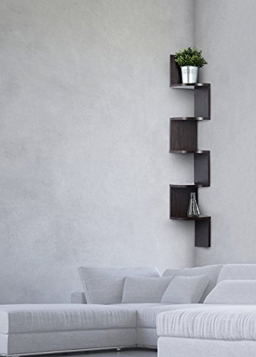 Amazon.com: Corner shelf - Espresso Finish corner shelf unit - 5 ...