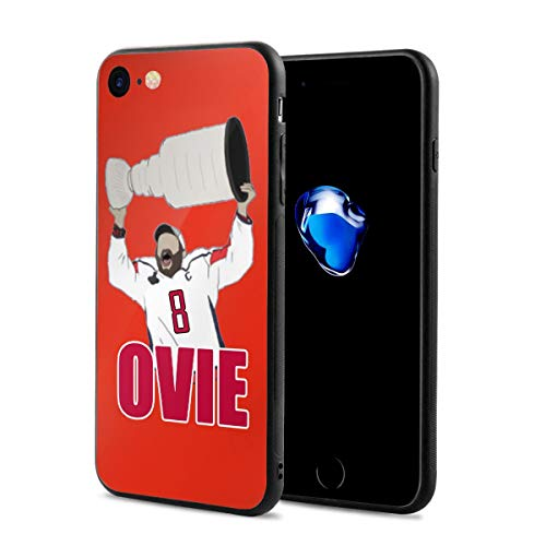 iPhone 8 Case Washington Ovechkin Ovie Holding Trophy Ultra-Thin Back Case Shock-Absorption Design Printed Pattern Silicone Bumper Cover for Apple iPhone 7/8