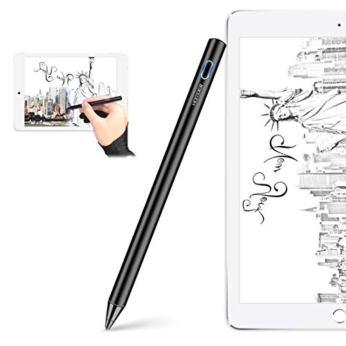 Homder Stylus Pen,Fine Tip Active Digital Stylus Pen for Touch Screens,Universal Stylus Pencil Compatible with Apple iPad iPhone and Samsung Andriod Touchscreen Cellphones Tablets(Glove Included) ()