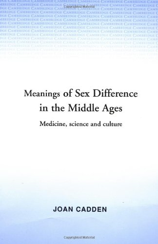 Meanings Of Sex Difference In Mid.Ages