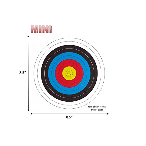 .30-06 Outdoors 10 Ring Mini Paper Target (100 Count), Red/Blue/Yellow by 30-06 OUTDOORS LLC (Image #1)