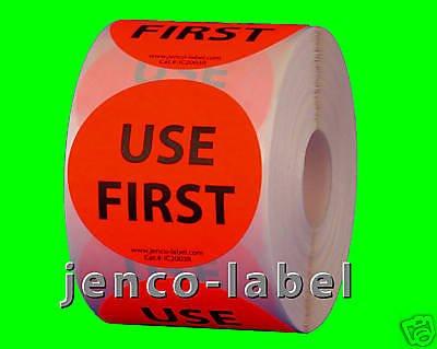 Jenco-Label IC2003R, 500 2'' dia Use First Label/Sticker by Jenco-Label