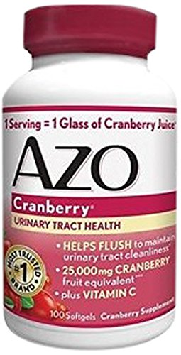 AZO Cranberry Urinary Tract Health Dietary Supplement* – 1 Serving = 1 Glass of Cranberry Juice^ - Helps Maintain Urinary Tract Cleanliness* –Plus Vitamin C - 100 Softgels (Supplement Urinary Health)