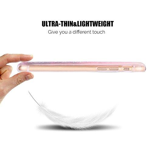 Funda iPhone 6 / 6S Plus Líquido Carcasa Anfire Suave Bling Lentejuelas Líquido Silicona Quicksand Cover Gel TPU Bumper Case Flotante Moviendo Estrellas Cubierta Protectora Caso para iPhone 6 / 6S Plu Dorado