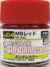 Mr. Gundam Color UG04 MS Red Paint 10ml. Bottle Hobby