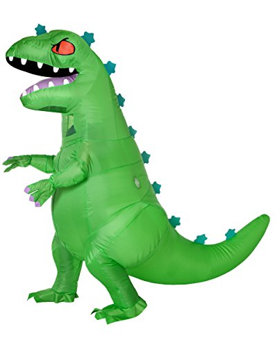 Spirit Halloween Adult Reptar Inflatable Costume - Rugrats Green]()