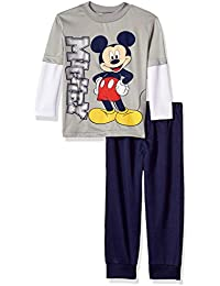 Baby Toddler Boys' Mickey Mouse 2-Piece Long-Sleeve...