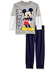 Disney Toddler Boys\' Mickey Mouse 2-Piece Long-Sleeve T-Shir...